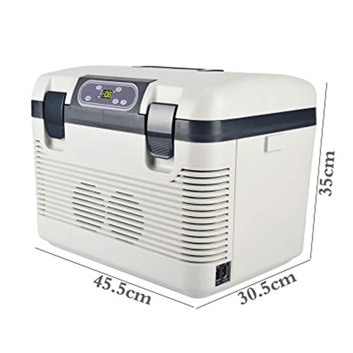 FREEZER Auto Kühlschrank Kompressor Kühlbox Mit 12/24/220 Volt Anschluss Für Autos Und LKW Kapazität 19L Mini Kühlschrank White