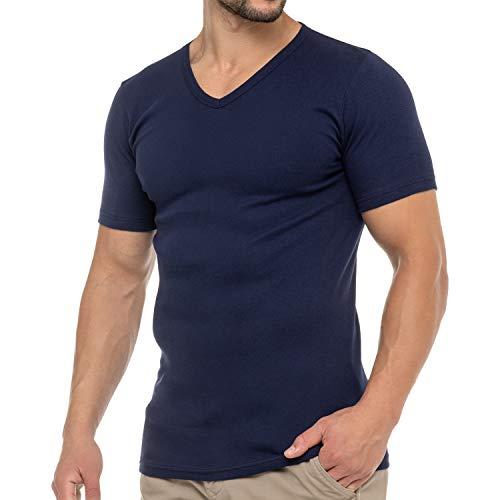 Celodoro Herren Business T-Shirt V-Neck (1 Stück) - Marine M