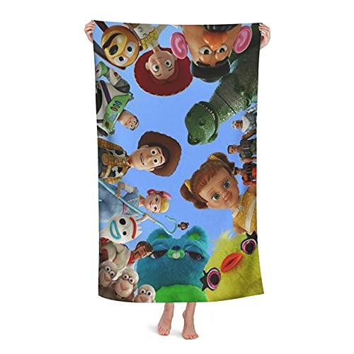 FsszpZZ Toy Story Toalla de baño grande microfibra suave adulto toalla de natación para viajes