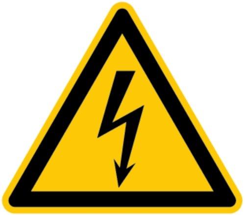 H.Klar Aufkleber Warnung vor gefährlicher elektrischer Spannung D-W008 SL 50mm