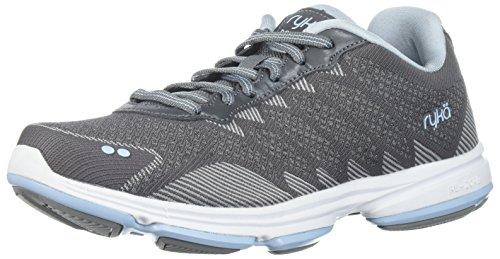 Ryka Women's Dominion Walking Shoe, Frost Grey/Soft Blue/Chrome Silver, 5.5 M US