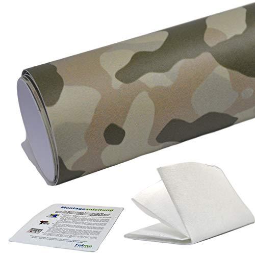 35,07€/m² Auto Folie Camouflage Tarnfolie Sticker Bomb Car Wrap Folie Streifen + ultrafeines Microfasertuch, Selbstkebefolie mit Luftkanälen (30cm x 150cm, Camo 21)
