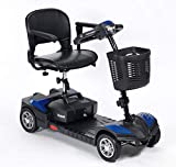 Wheelchair Wheelchair, Medical Rehab Chair for Seniors,Old People,Scout Venture Scooter 4 Wheel - Lightweight Folding Power Scooter - Motorized Mobility Scooter for Adults,Blue