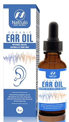 Organic Ear Oil for Ear Infections - Natural Eardrops for Infection Prevention, Swimmer's Ear & Wax Removal - Kids, Adults, Baby, Dog Earache Remedy - with Mullein, Garlic, Calendula, Made in USA
