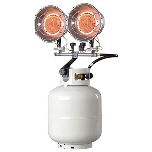 Propane Camping Heater Mr. Heater MH30T Double Tank Top