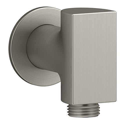 KOHLER K-98353-BN Exhale Wall-Mount Supply Elbow with Check Valve, Vibrant Brushed Nickel