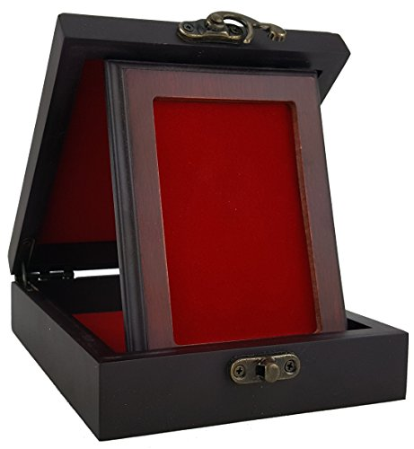 Yankee Forge Wood Presentation/Display Box for Badges, Pins, Patches & Other Treasures - Red Interior