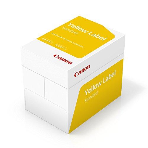 Canon Deutschland Yellow Label Standard Multifunktionspapier, 5x500 Blatt EU Umweltzeichen, alle Drucker, A4, 80 g/m² , weiß CIE 150 (optimierte Schutzverpackung)
