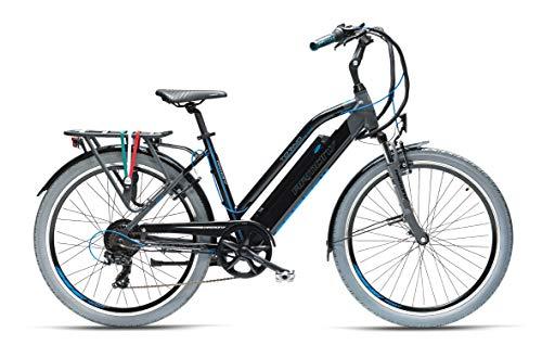 """Armony Torino, Bicicletta Elettrica Unisex Adulto, Grigio Scuro Nero, 26\"""""""