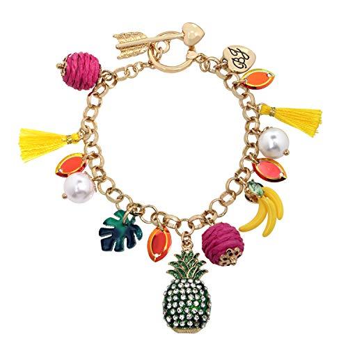 Betsey Johnson Mixed Fruit Charm Bracelet