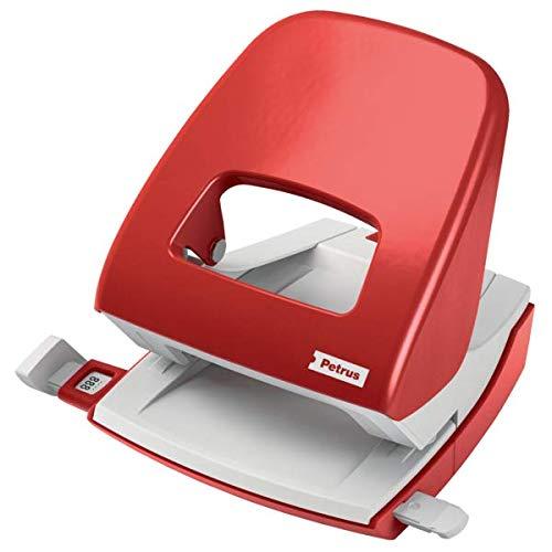 PETRUS 623353 - Taladro de oficina 2 agujeros modelo 62 color rojo