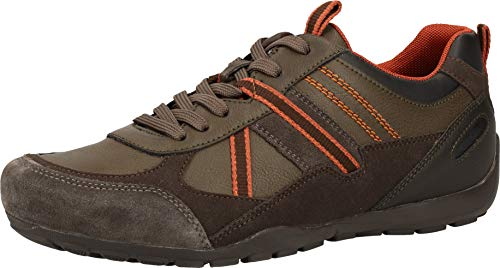 Geox U RAVEX A, Zapatillas Hombre, Braun Mud Orange, 44 EU