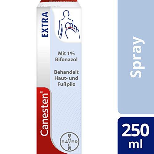 CANESTEN ExtraSpray gegen Haut- und Fußpilz mit 1% Bifonazol ist wirksam gegen alle relevanten Erreger, 25 ml