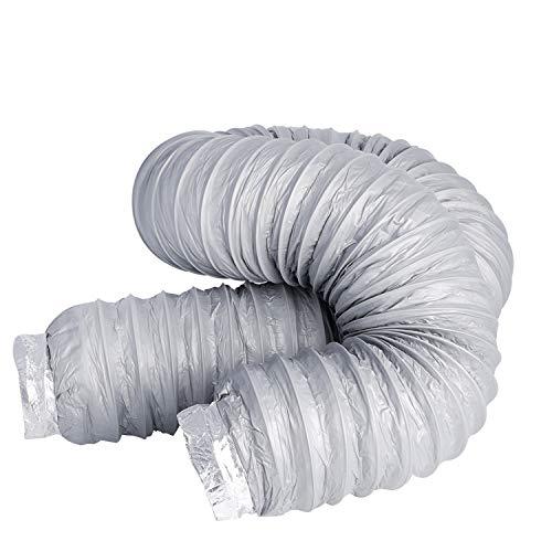 Conducto de ventilador, HG POWER 4 pulgadas, conducto de ventilación flexible de bajo ruido, manguera de conducto de aire de aluminio para ventilador extractoro, aire acondicionado