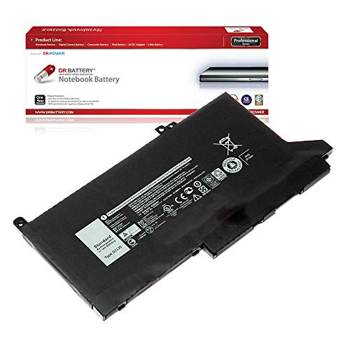 DR. BATTERY Laptop Battery for Dell Latitude 12 7240 7280 7290 480 Latitude 13 7390 Latitude 14 7440 451-BBZL DJ1J0 ONFOH PGFX4 [11.4V/3684mAh/42Wh]