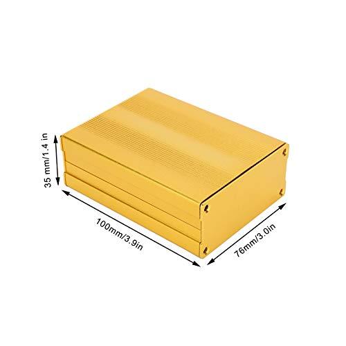 Projektgehäuse für DIY-Projekte, Gehäuse aus Aluminiumlegierung, 35 x 76 x 100 mm, Sandstrahl-Oxidationsbehandlung für Decoder, Gehäuse für GPS-Decoder.