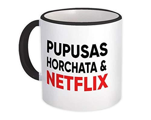 Pupusas Horchata Netflix : Taza de Regalo : Honduras El Salvador Honduran Salvadorian