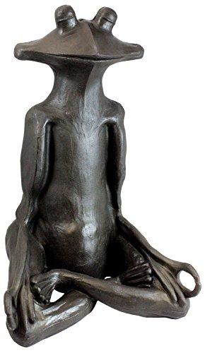 "Emsco Group 92510 Yoga Frog Statue – Natural Appearance – Made of Resin – Lightweight – 21"" Height Garden, BRONZE -  92510-1"