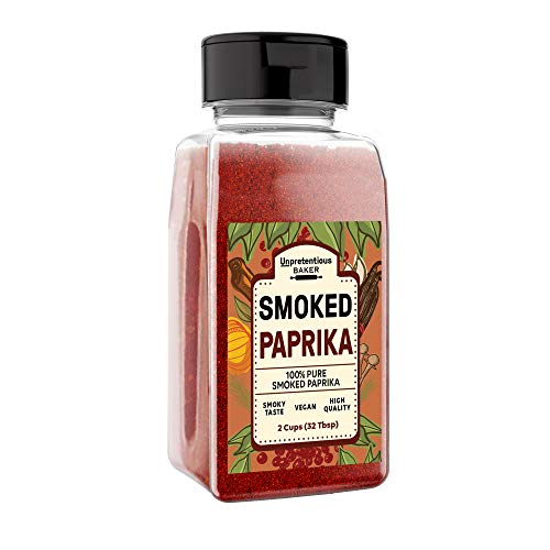 Smoked Paprika, 1 Cup, A Flavorful Ground Spice Made from Dried Red Chili Peppers Wood Smoked for a Strong & Smoked Flavor, Convenient Shaker Bottle