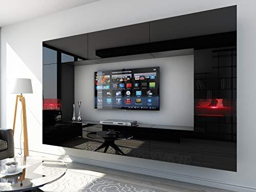 HomeDirectLTD Future 29, Conjunto de Muebles De Salón, Módulo Bajo para TV Y Multimedia, Unidad de Entretenimiento, Mueble TV, Suite a Estrenar (Iluminación RGB LED Opcional) (29_HG_B_1, Mueble)