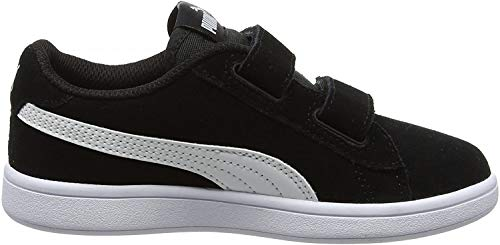 Puma Unisex-Kinder Smash v2 SD V PS Zapatillas, Schwarz Black White, 33 EU