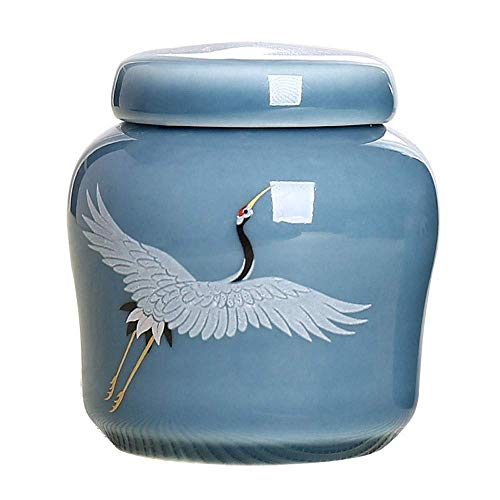 Alqn Cremación Entierro primitivo Ceniza Entierro de ceniza Cerámica primigenia Recuerdo de cerámica hecho a mano primigenio,Azul-3