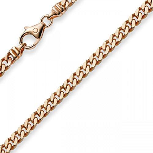 4 mm rosso catena collana catena in{585} oro Collana 55 cm oro catena