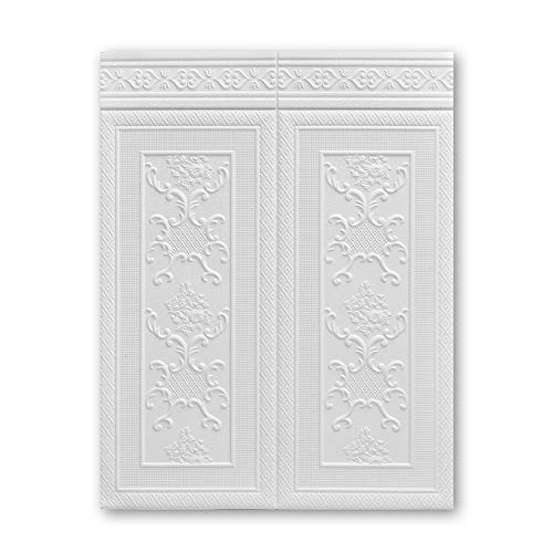 Adesivi Murali 3D,Pannelli Decorativi Per Pareti,Impermeabile Facilissima Da Applicare Per Cucina Salone TV Sfondo Soffitto 10Pcs (Color : White-A)