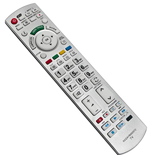 ALLIMITY N2QAYB000572 Telecomando Sostituisci per Panasonic Viera 3D TV TX-L32DT30Y TX-L32DT35E TX-L32ETS51 TX-L32ETX54 TX-L37DT30B TX-L37DT35E TX-L37ETF52 TX-L37ETN53 TX-P42GT30B TX-P42ST33E