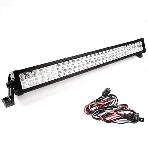 Luce da lavoro a LED, 120W, 180W, 240W, 300W, 11400 lm, per auto, SUV, Jeep, ATV, trattore, scavatrice, camion, gru, 4x 4, 12V, 24V , 31.5'