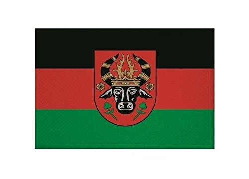 U24 Aufnäher Parchim Fahne Flagge Aufbügler Patch 9 x 6 cm