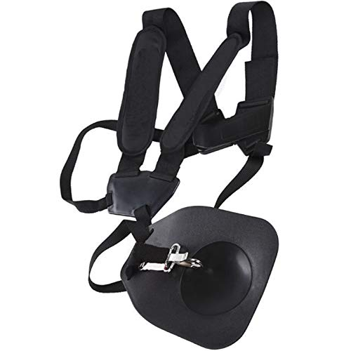 Fltaheroo Ergonomic Convenient Pruner Double Breasted Universal Harness Shoulder Strap with Hook Carry for Brush Cutter Trimmer