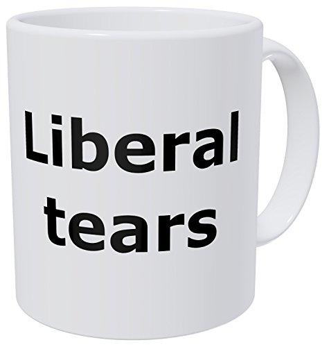 Wampumtuk Liberal Tears, Black Font, Republican 11 Ounces Funny Coffee Mug