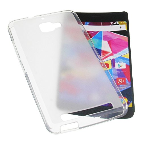 foto-kontor Tasche für Archos Diamond Plus Gummi TPU Schutz Handytasche milchig transparent