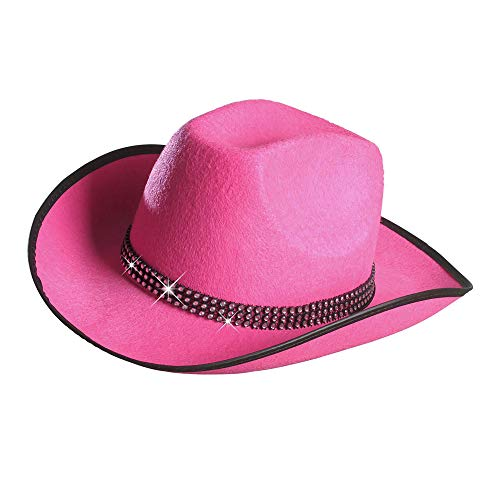 Widmann - Cowboyhut mit Strassband,Pink,Einheitsgröße