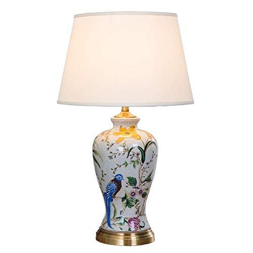 LYYJIAJU keramiek handgeschilderde tafellamp, in Europese stijl, moderne eenvoudige woondecoratie, warm romantische bruiloft, woonkamer, nachtverlichting