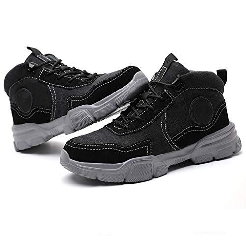 HJJ Calzado de protección Zapatos de Trabajo de Seguridad de la Seguridad de la Soldadura cómoda, Zapatos de Seguridad, Zapatos de Seguridad para Mujeres Hombres de Punta de Acero Zapatos