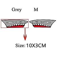 SHOUGONG 1セット自転車フレームデコレーションステッカーシャークヘッドチューブステッカーバイクはギアステッカーサイクリングアクセサリーを修正しました (Color : Shark E GM)