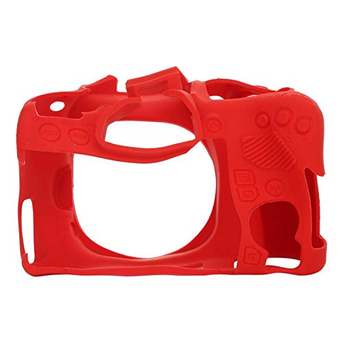 Surebuy Estuche Protector para cámara pequeña, Accesorio para cámara Digital, Funda de Silicona, para Estuche para cámara Canon para Canon para Canon EOS(Red)
