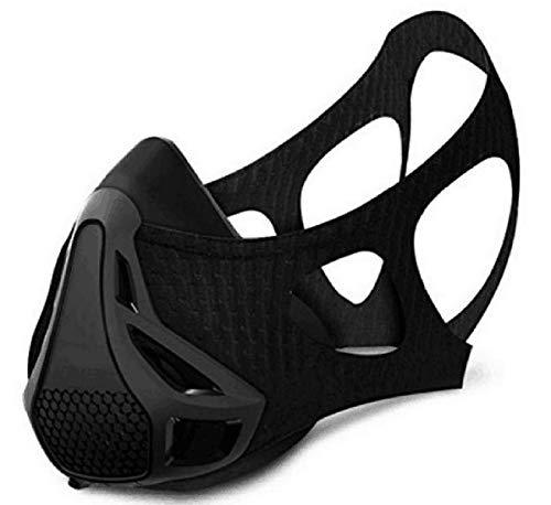 Fypxd Mascara de Entrenamiento, Deporte Ejercicios Entrenamiento Máscara - para Running Ciclismo y Fitness, con la Alta altitud elevación Simulación (Large)