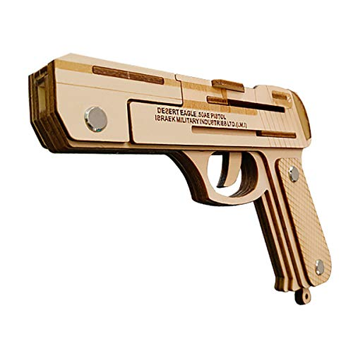 Assembly DIY Education Toy 3D Wooden Model Puzzle Desert Eagle 50AE Pistol