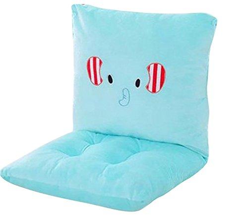MIMORE - Juego de cojines para silla mecedora con lazos para niños y niñas, color cian