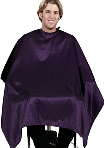 """MIDNIGHT PURPLE Hair Cutting (USA Made) Salon Barber Cape 50"""" X 60""""""""BEST In Industry"""" Buy 12 Get 1 Free + FREE Double Dip Comb"""