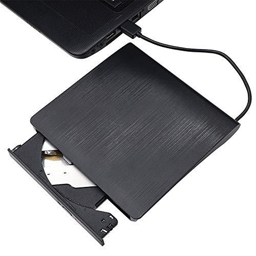 Externes Slim USB 3.0 DVD Laufwerk ± RW CD-RW Brenner Player für Mac PC Laptop Schwarz