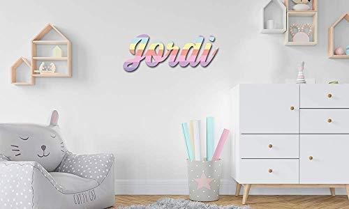 Nombres personalizados en madera elige color y tamaño • Nombres Decorativos en madera natural y con texturas a color !! • 30 cm | 40 cm | 50 cm
