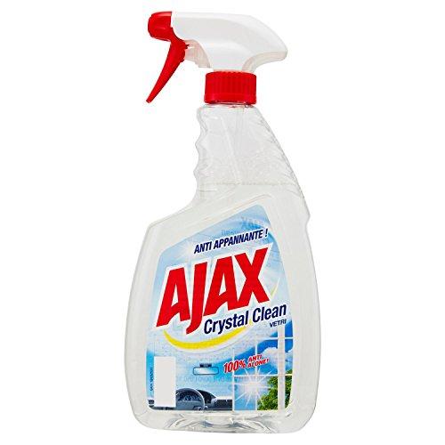 Ajax–Waschmittel Crystal Clean, Glasreiniger, mit Ammoniak, 100% Magnesiumlegierung–6Stück 750ml [4500ml]