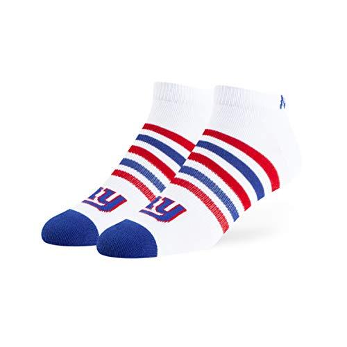 OTS NFL New York Giants Men's Venom Low Cut Ankle Sock, White, Large
