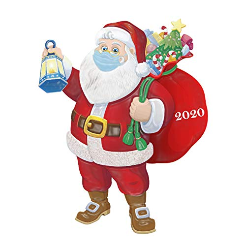 PIKAqiu33 Home Decor, 2020 Christmas Ornament Resin Santa Personalized Claus of Holiday Decorations, Products for New Year (As Show)