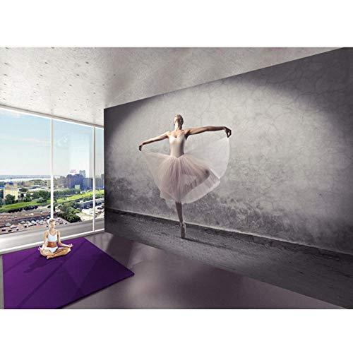 3D Stereoscopische Wallpaper Vintage Photo Muurschildering, Woonkamer Koffie Winkel 3D Ballet, Dans Kamer Decor 3D Muurschilderingen 280 cm (B) x 180 cm (H)