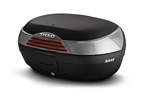 SHAD D0B46100 Topcase mit Montageplatte Enthalten, Schwarz